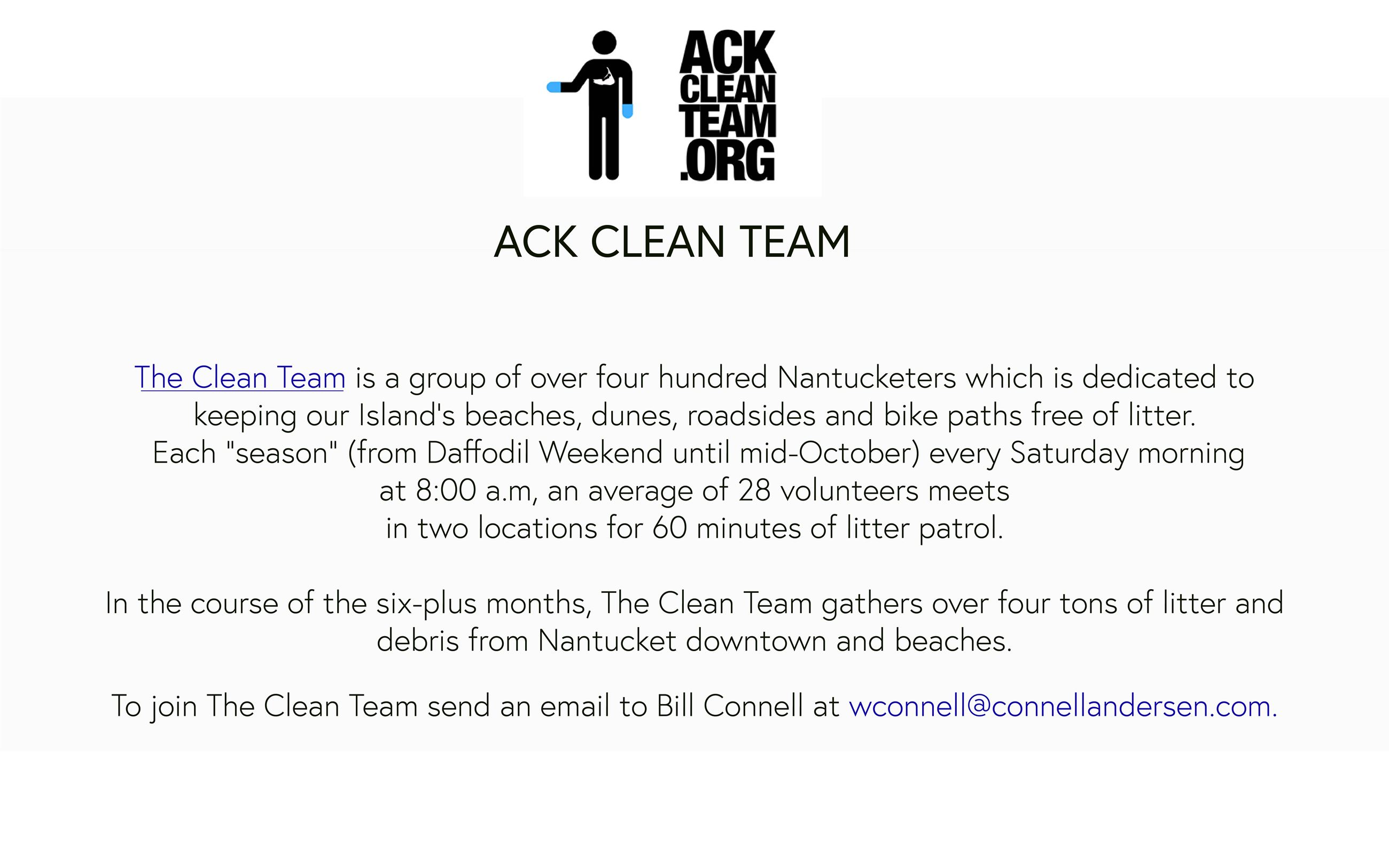 ACK clean team