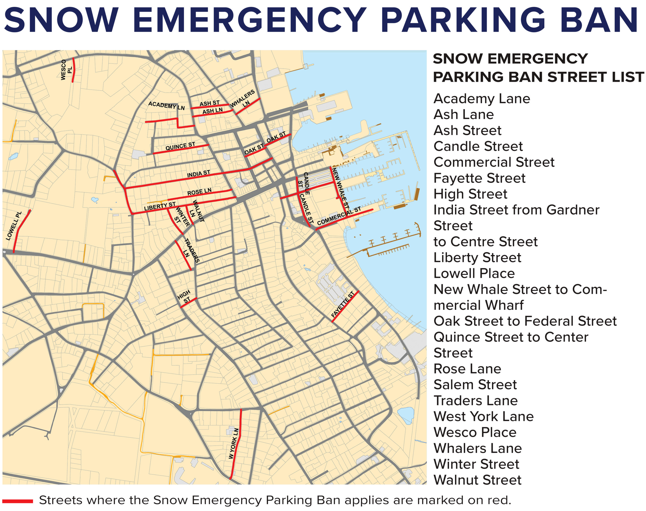 Snow parking ban map Nantucket
