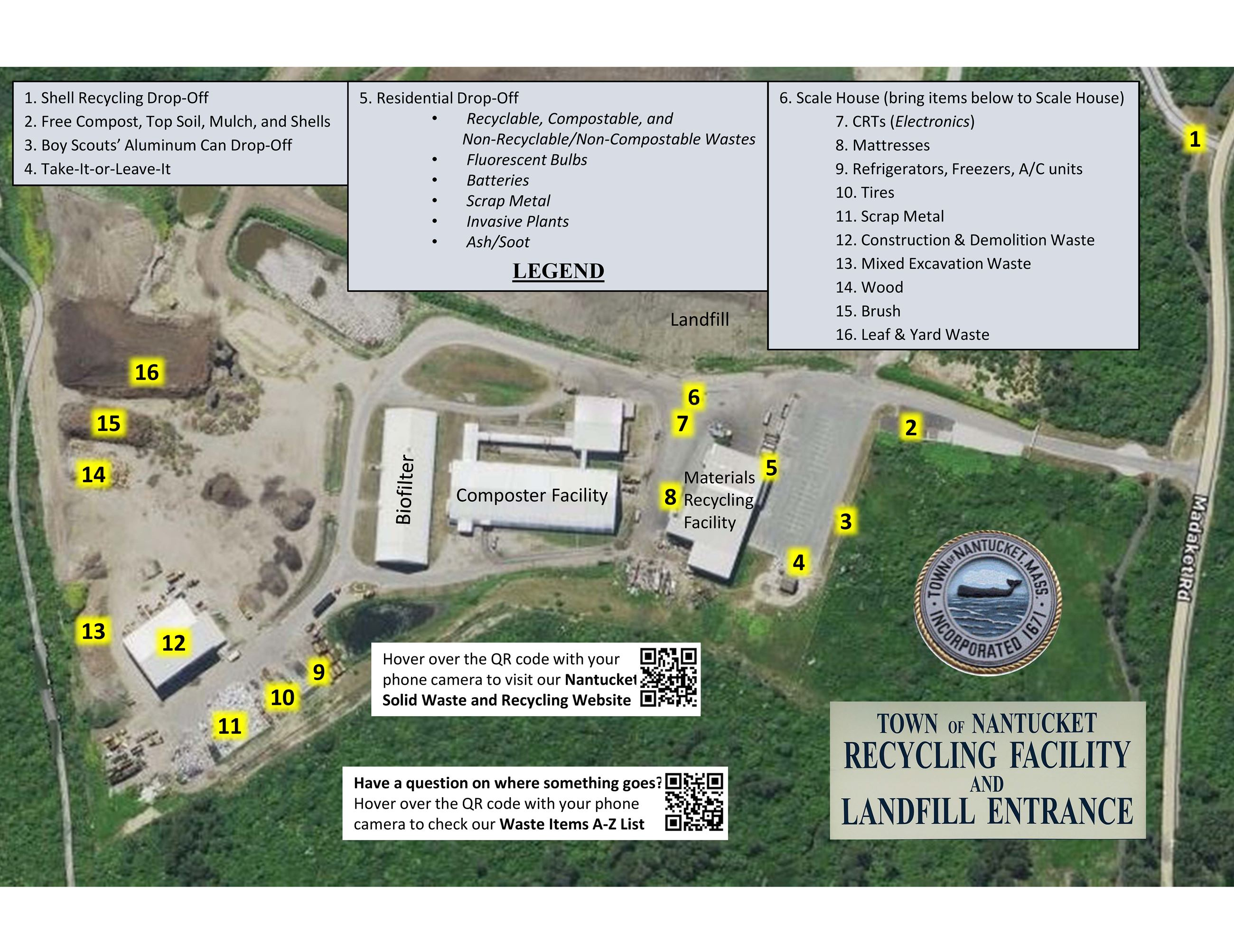 Recycling Facility and Landfill Entrance