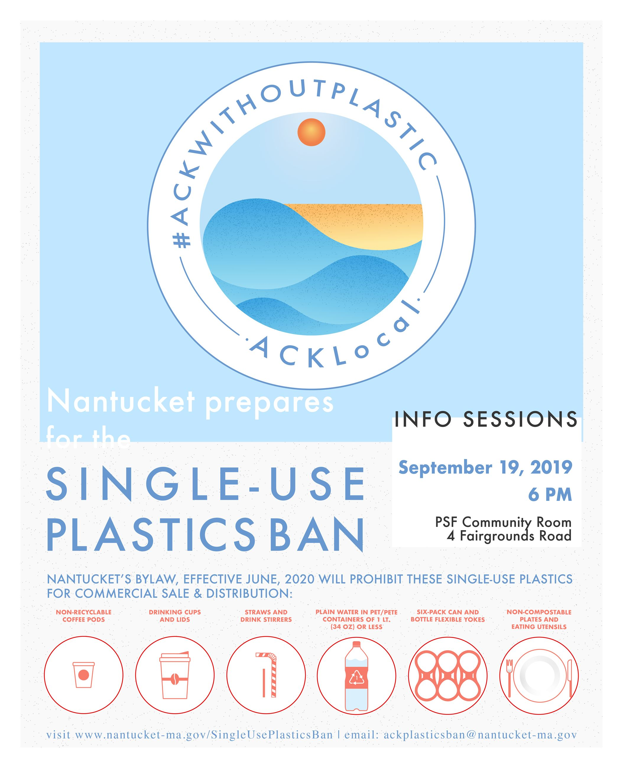 Plastic Ban Info Sessions flyer
