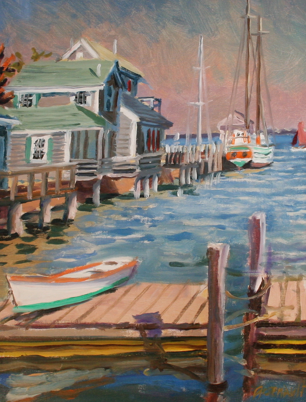 Paul Arsenault – Commercial Wharf (On its Southside, seen from Petrel Landing)