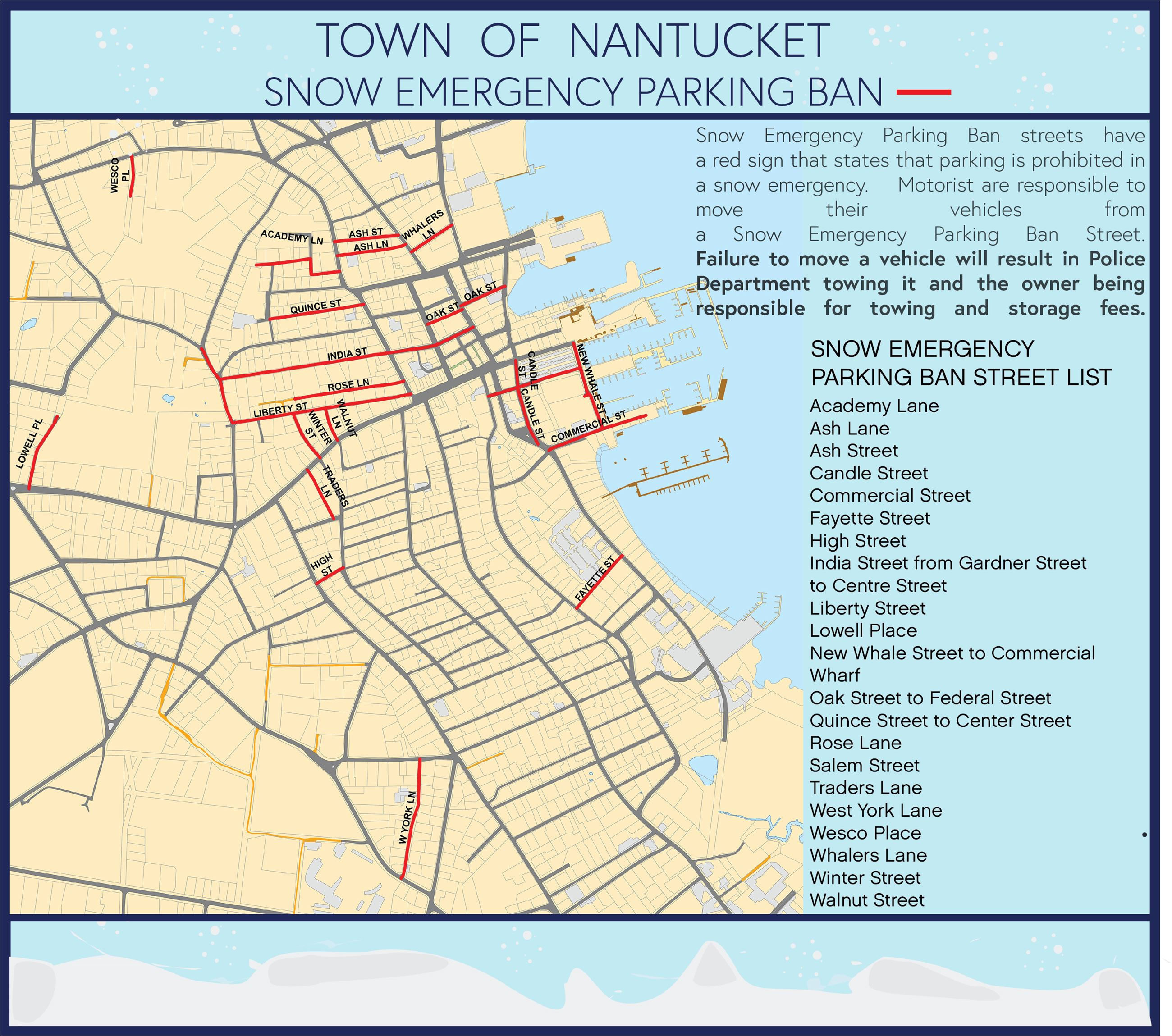 Snow Parking Ban Map