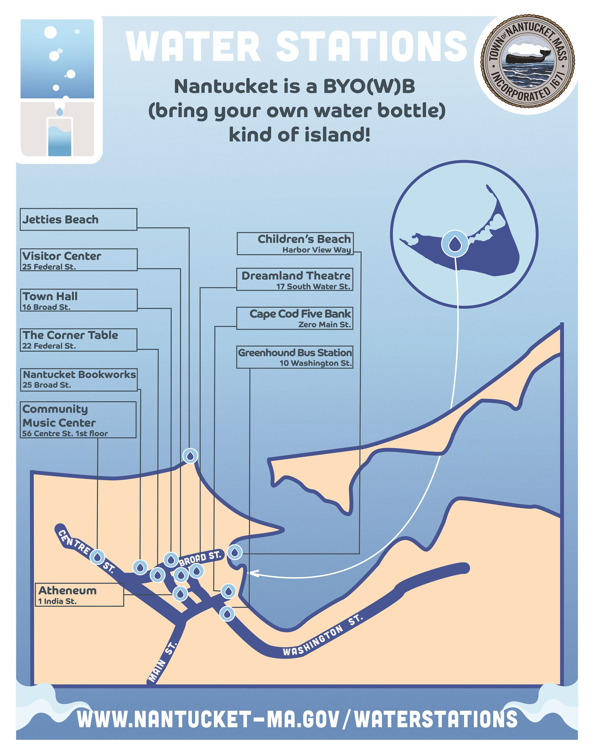 Water Stations on Nantucket Opens in new window